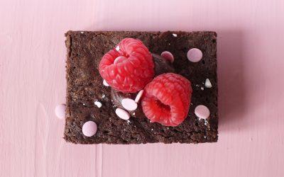 Raspberry & Dark Chocolate Brownies
