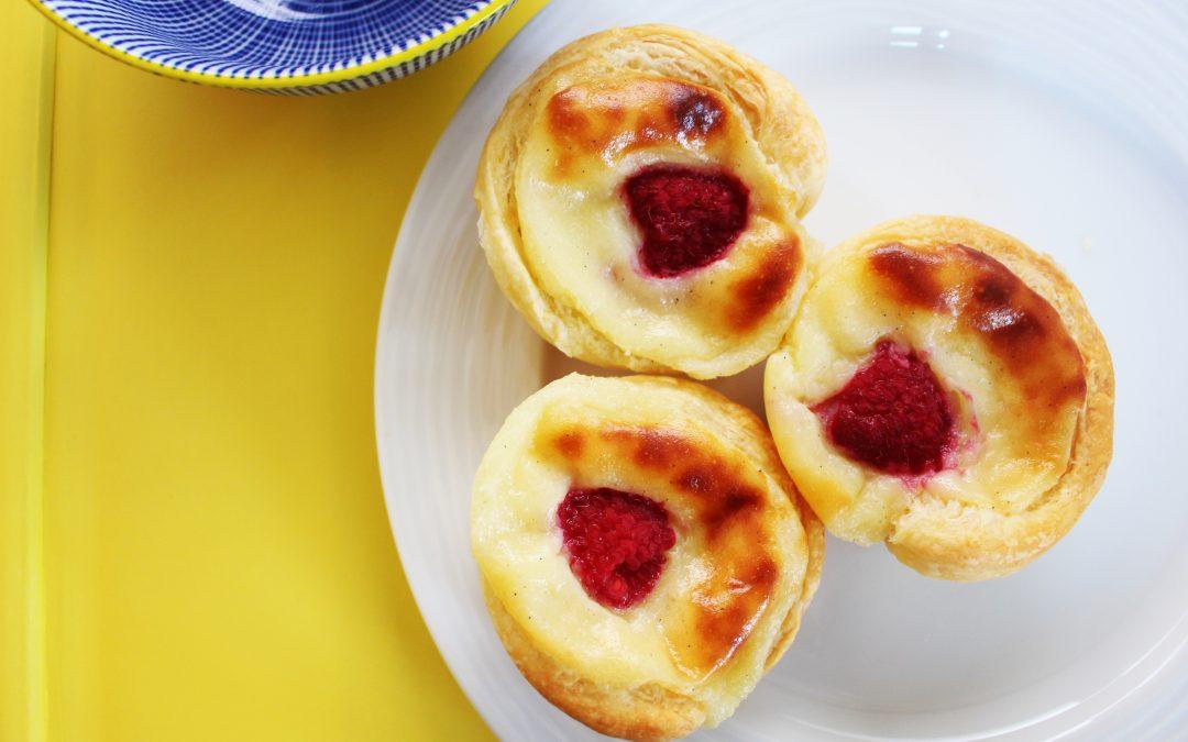 Raspberry Pasteis de Nata