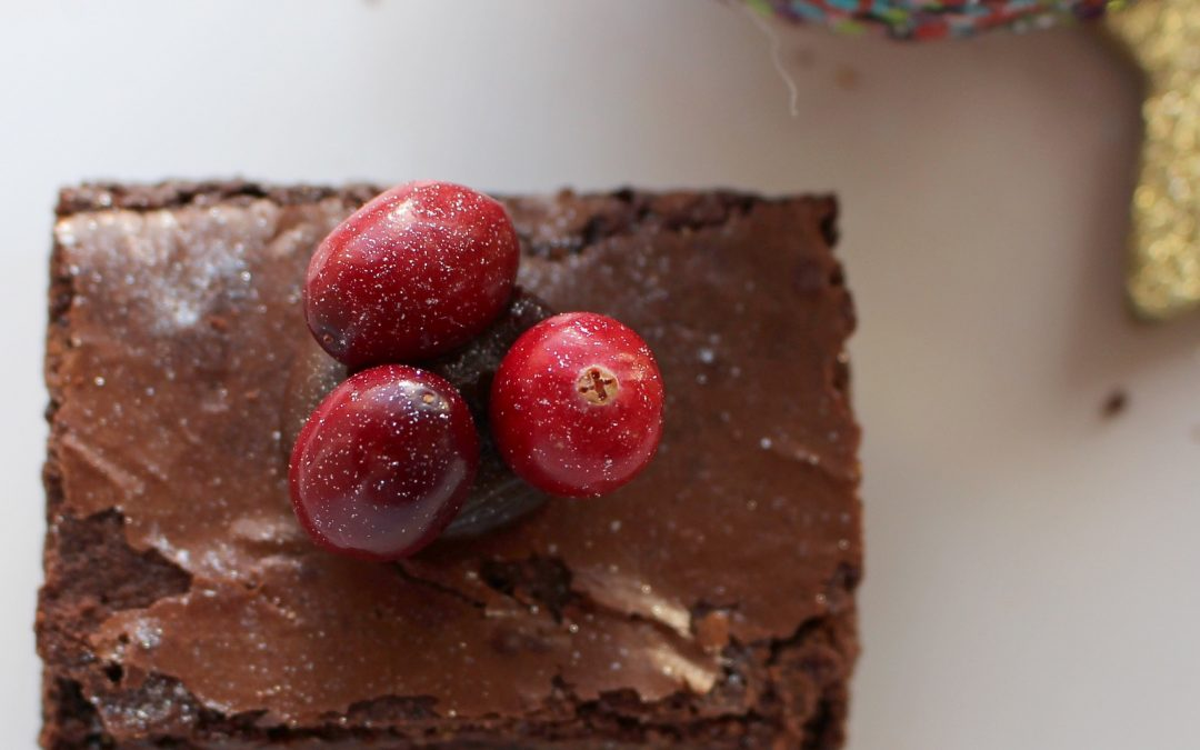 Caramelised White Chocolate & Cranberry Brownies